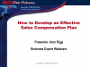 How to Develop a Truly Effective Sales Compensation Plan