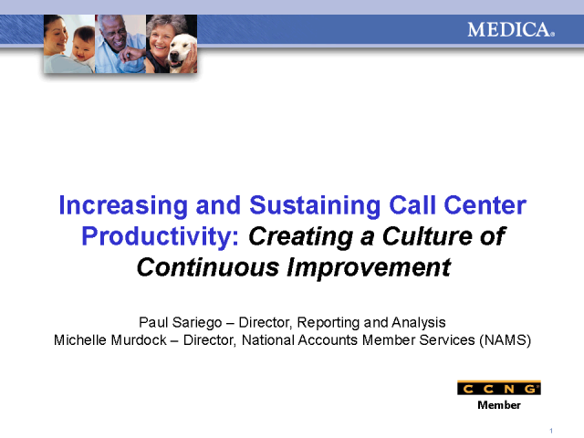 Increasing & Sustaining Call Center Productivity