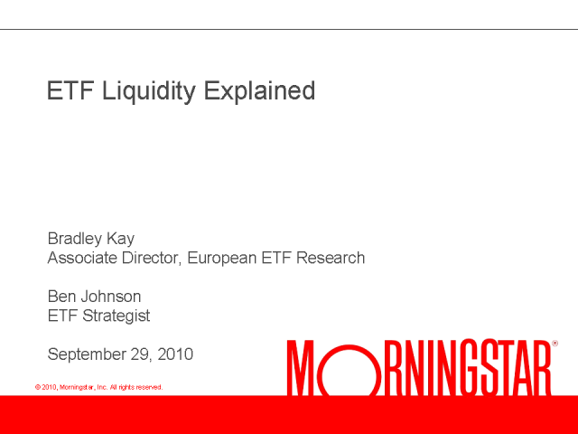 Putting ETF Liquidity into Perspective