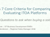 ESG's 7 Core Criteria for Comparing and Evaluating ITOA Platforms