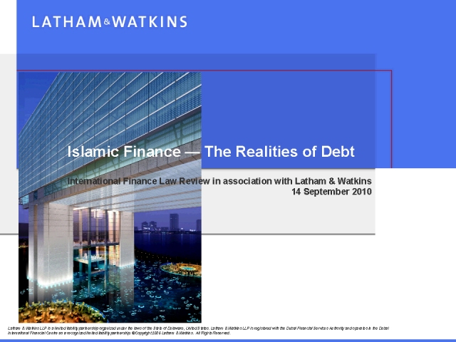 Islamic finance: the realities of debt