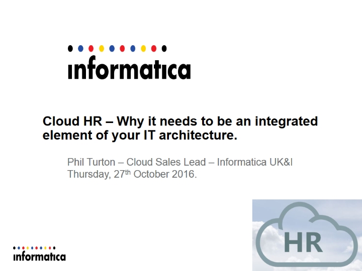 Cloud HR – Why It Needs To Be An Integrated Element Of Your IT Landscape