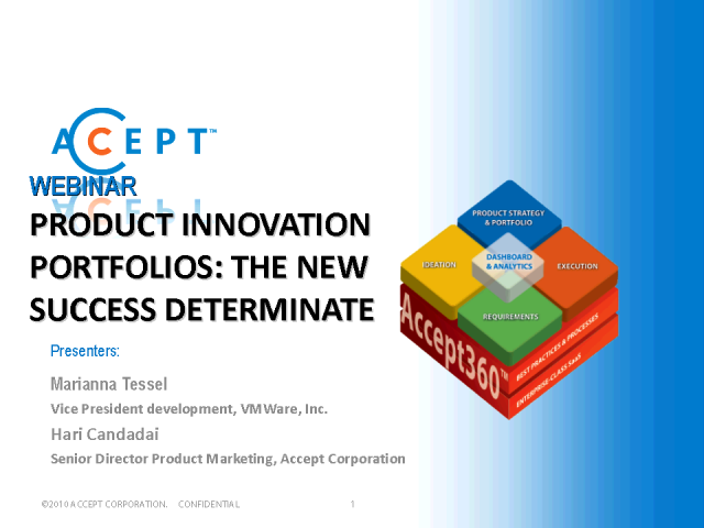 Product Innovation Portfolios: The New Success Determinate
