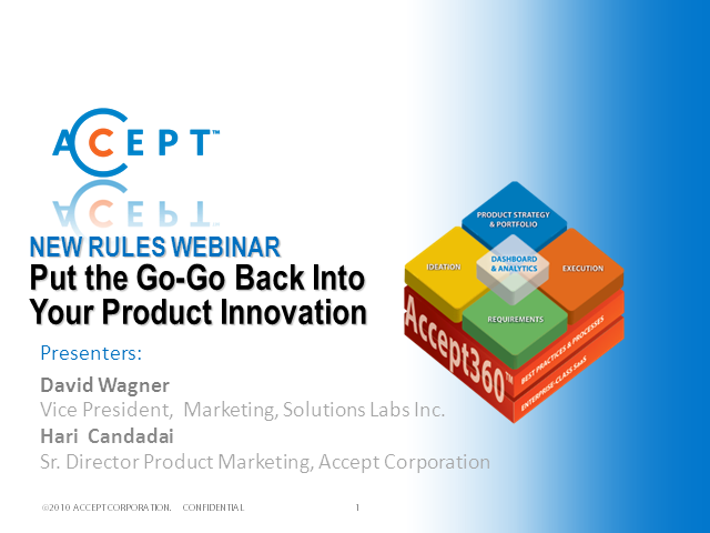 Put the Go-Go back into Your Product Innovation
