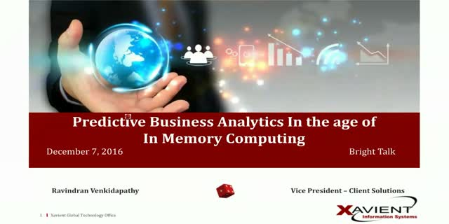 Predictive Business Analytics In the age of In Memory Computing