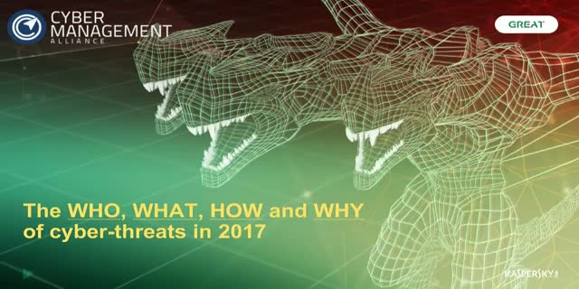 Threat intelligence and predictions for 2017 with Kaspersky Lab