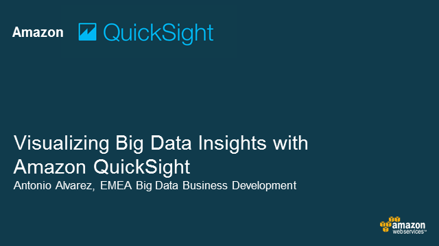 Inteligencia empresarial (BI) con Amazon QuickSight