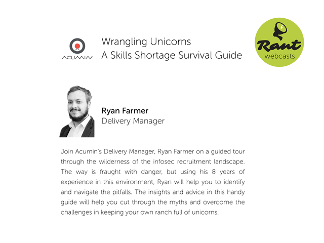 Wrangling Unicorns – A Skills Shortage Survival Guide