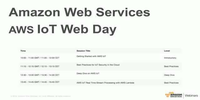 Deep Dive on AWS IoT