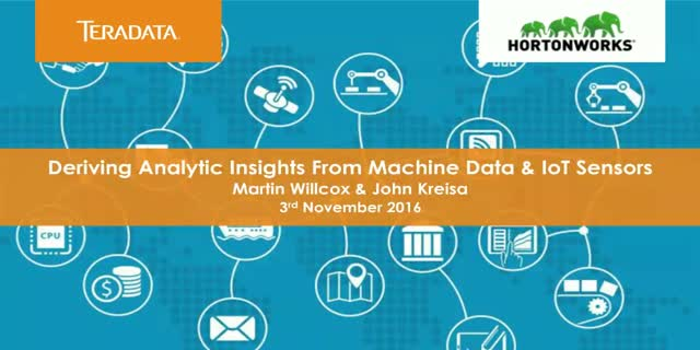 Deriving analytic insights from Machine Learning and IoT sensors