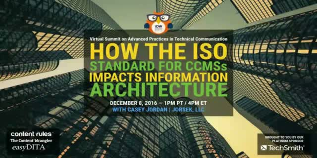 How the ISO Standard for CCMSs Impacts Your Information Architecture