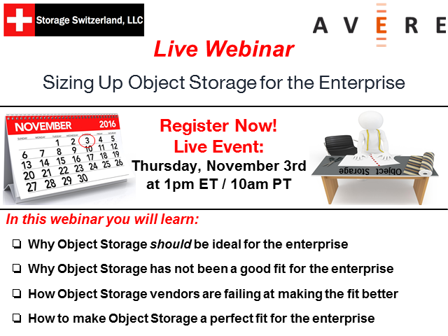 Sizing Up Object Storage for the Enterprise