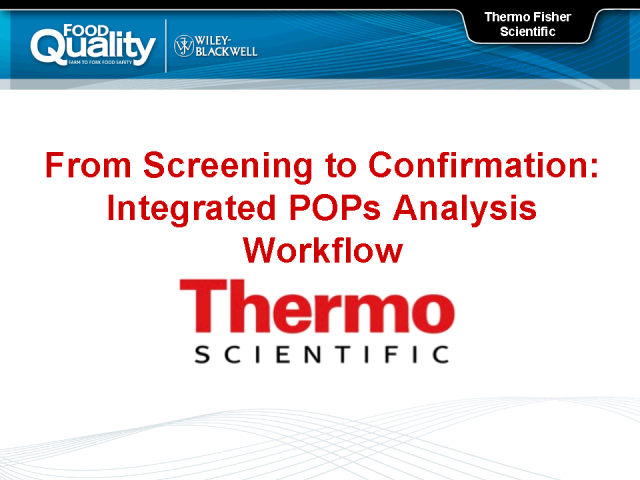 From Screening to Confirmation: Integrated POPs Analysis Workflow