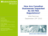 How Are Canadian Businesses Impacted By US FDA Regulations?
