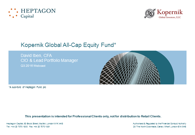Kopernik Global All-Cap Equity Fund Q3 2016 Webcast