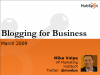 Blogging for Business Results
