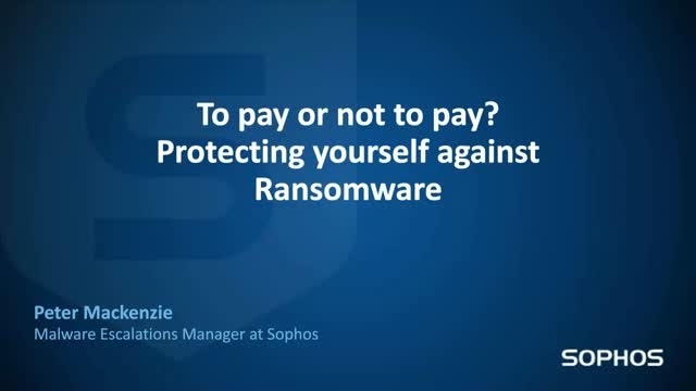 Ransomware - To pay or not to pay?