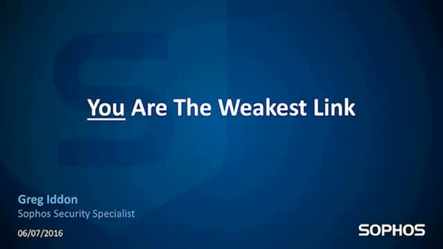 Social Engineering - Are you the weakest link?