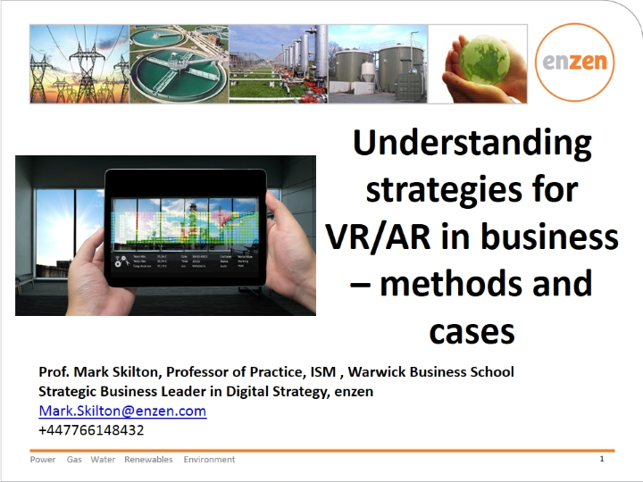Understanding Strategies for VR/AR in Business – Methods and Cases