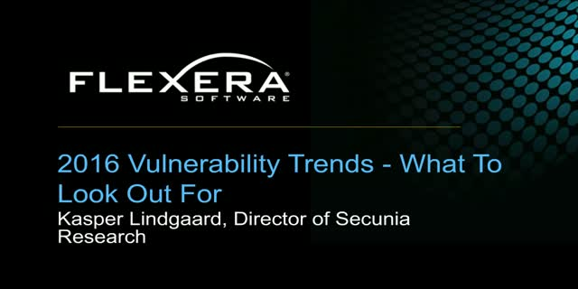 2017 Vulnerability Trends - What To Look Out For