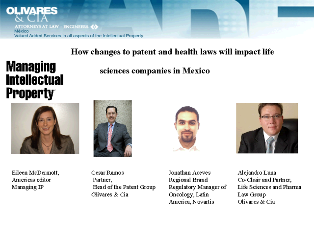 Changes to Mexican patent and health laws for life sciences