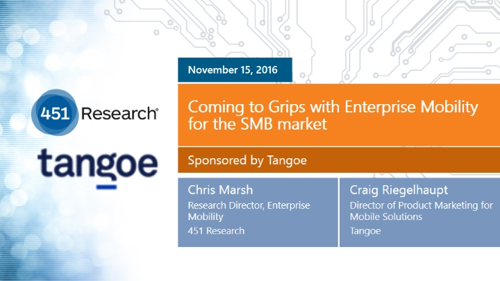 Coming to Grips with Enterprise Mobility for the SMB Market