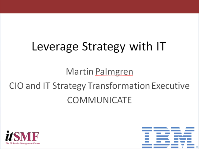 Leverage Strategy With IT