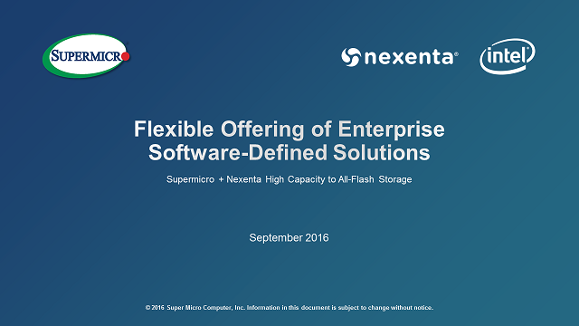 Flexible Offering of Enterprise Software-Defined Solutions