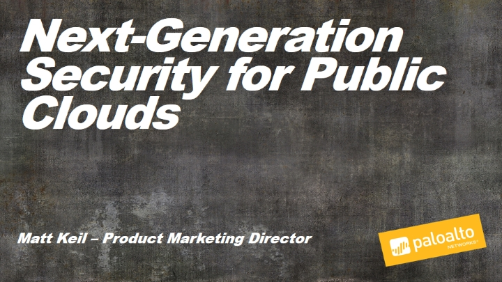 Next-generation Security for the Public Cloud