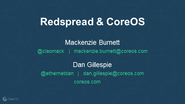 Redspread joins CoreOS