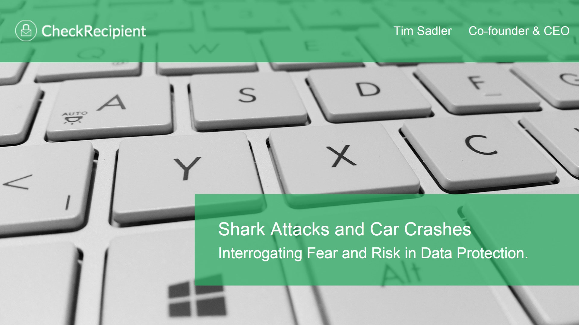 Shark Attacks and Car Crashes: Interrogating Fear and Risk in Data Protection
