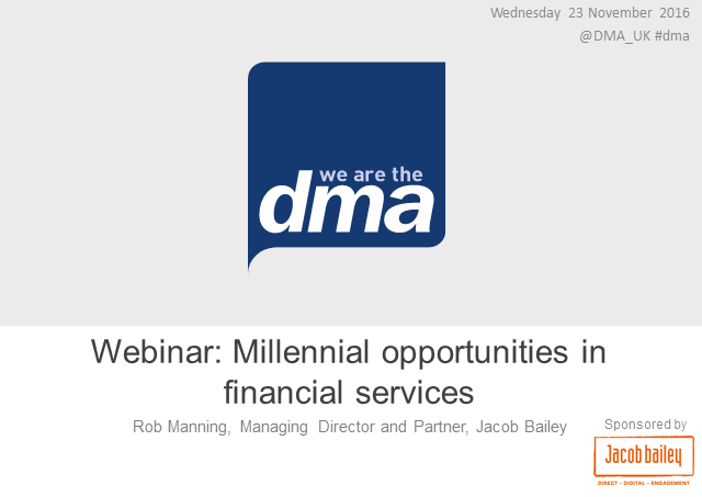 Webinar: Millennial opportunities in financial services