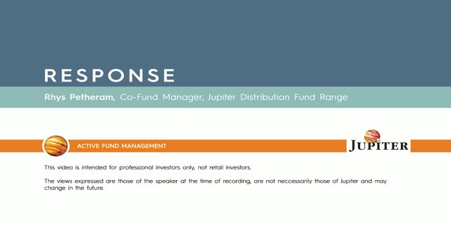 Response - Jupiter Distribution Fund Range