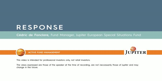 Response - Jupiter European Special Situations Fund
