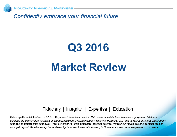 Q3 2016 Market Review Webinar