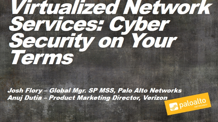 Virtualized Network Services: Cyber Security on Your Terms