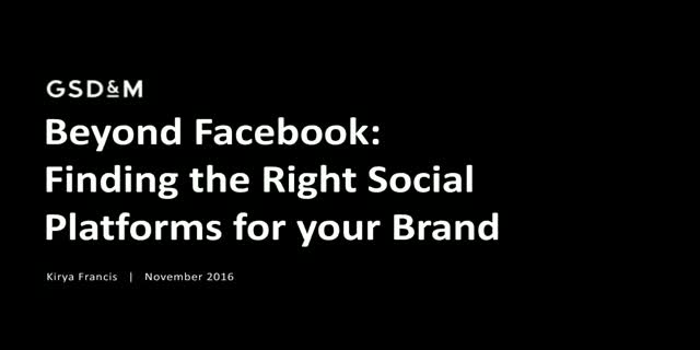 Beyond Facebook: Finding the Right Social Platforms for your Brand