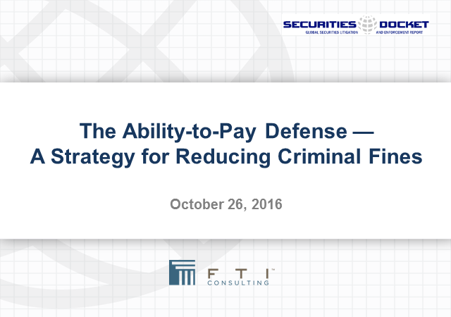 The Ability-to-Pay Defense: A Strategy for Reducing Criminal Fines