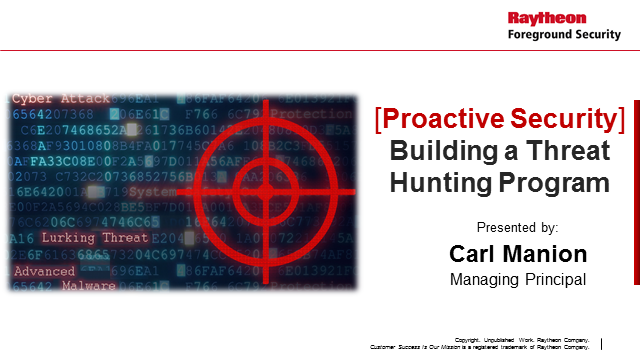 Proactive Security: Building A Successful Threat Hunting Program