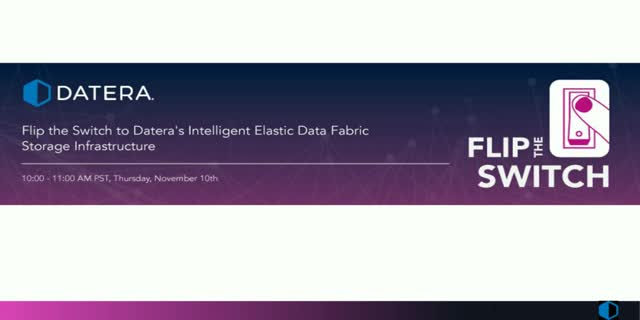 Flip the Switch to Elastic Data Fabric Storage Infrastructure