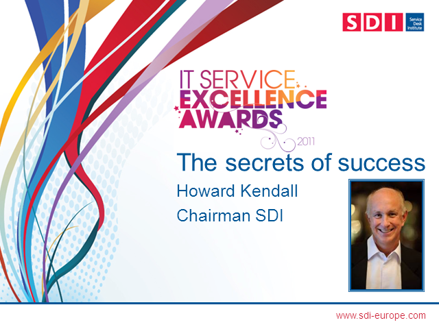 2011 IT Service Excellence Awards - the secrets of success