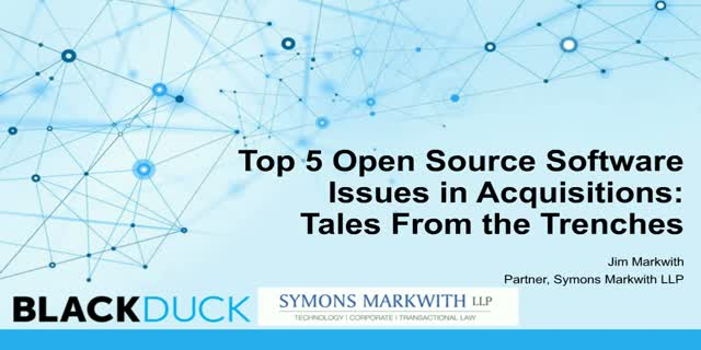 Top 5 Open Source Issues - Stories from the M&A Trenches
