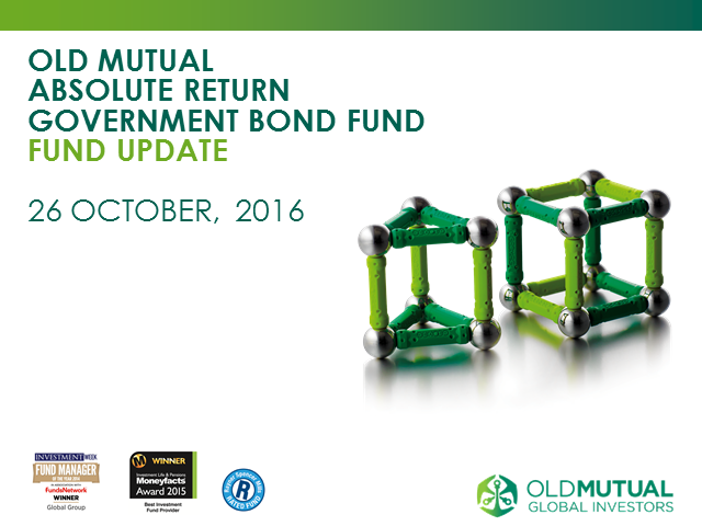 Old Mutual Absolute Return Government Bond Fund update - October 2016