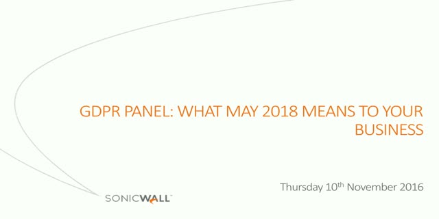 GDPR Panel: What May 2018 Means to Your Business