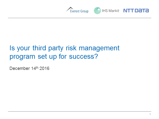Is your third party risk management program set up for success?
