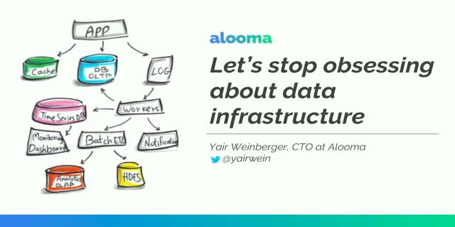 Stop obsessing about Data Infrastructure