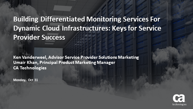 Building Differentiated Monitoring Services For Dynamic Cloud Infrastructures