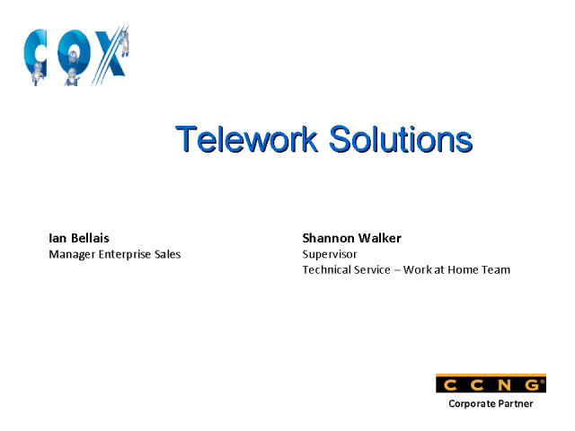 Teleworking Call Center Solutions at Cox Communications