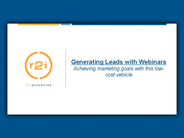 Generating Leads with Webinars