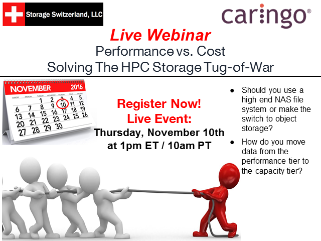 Performance vs. Cost - Solving The HPC Storage Tug-of-War